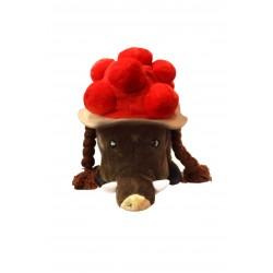 Bollenhut-Mütze mit Zöpfen