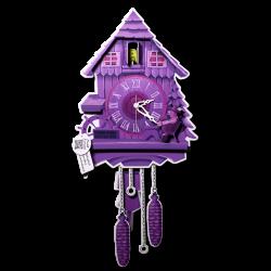Pappuhr Lavendel Pendelwerk